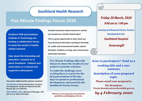 Southland Health Research 2020 P1