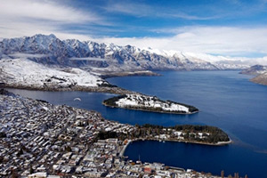 Queenstown skyline in winter