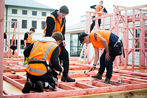 Construction students at SIT