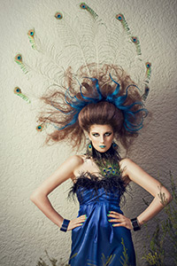SIT Visual Hair Design student KELLY PARKER's work. Model is Laura Gerken