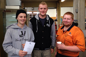 Jaydyn Watson, Callum Affleck and Jacob Anderson - Certificate in Mechanical Engineering